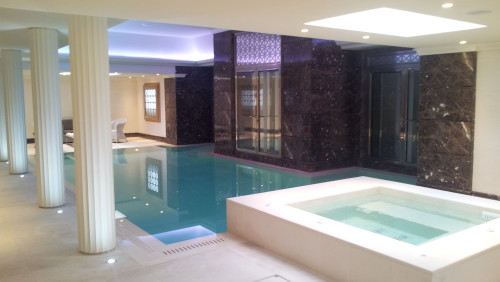 Indoor stunning pool and spa