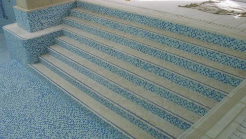 Mosaic tiled steps