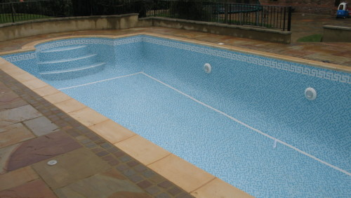 Outdoor pool after we administered Tender loving care